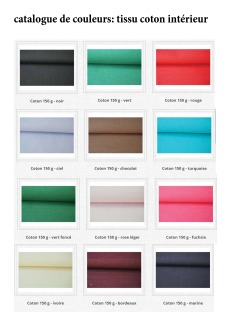 color catalog: interior cotton fabric